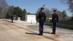 Arlington National Cemetery Guard of Honor change 4K 019 Stock Footage