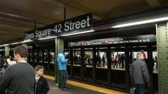 Stock Video Footage of Times Square 42nd Street subway station