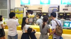 Shenzhen, China: Food & Beverage shop Stock Footage