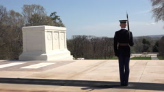 Arlington National Cemetery Honor Guard Honor Tomb Unknown Soldier 4K 020 Stock Footage