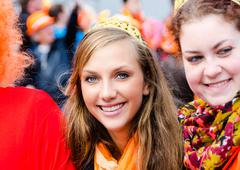 AMSTERDAM - APRIL 30: City natives and tourists celebrate Queen's Day, Dutch  Stock Photos