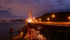 4K Golden Gate Bridge Timelapse  05 Clouds 3 axis dolly Stock Footage