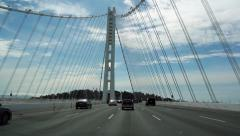 Oakland Bay Bridge, San Francisco - stock footage