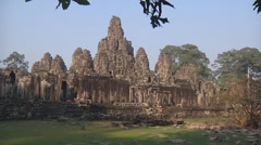 Stock Video Footage of Prasat Bayon at Angkor Thom, Siem Reap Province, Cambodia