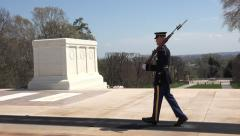 Arlington National Cemetery Honor Guard Tomb Unknown Soldier 4K 020 Stock Footage