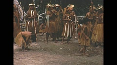 Vintage 16mm film, Amazon indigenous native group 1960s #3 Stock Footage