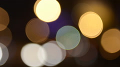 Floating Orbs of Light with a Soft Focus Stock Footage