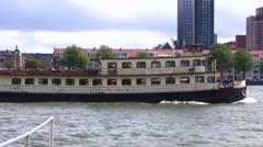 New Meuse River, Rotterdam, Netherlands Stock Footage