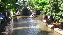 Utrecht, Canal, Netherlands Stock Footage