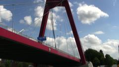 Rotterdam Port Bridge, Netherlands Stock Footage