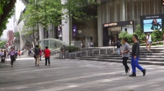 Tourists visit ION Orchard in Orchard Road, Singapore - stock footage