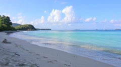 Sunny morning on Carlos Rosario Beach in Isla Culebra Stock Footage