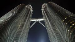 Modern Petronas Towers - the Tallest Buildings in Malaysia - stock footage