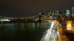 Time lapse of Manhattan street traffic at Downtown timelapse NY Stock Footage
