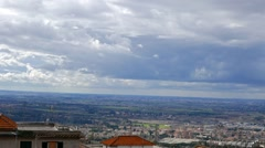 Panorama from Tivoli. Italy. 1280x720 Stock Footage