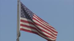 US Flag waving, full frame (mute) Stock Footage