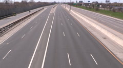Gardiner expressway highway in Toronto closed for road maintenance and repairs Stock Footage