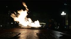 Centennial Flame Ottawa at night 2 Stock Footage