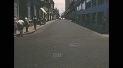 Vintage 16mm film, Amazon basin, traffic in town, lots of people 1950s Stock Footage