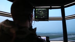 Stock Video Footage of US Navy Air Traffic Control