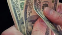 Count money by hands Stock Footage