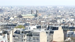 View from the top of Montmartre - Paris building panoram Stock Footage