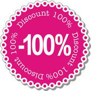 Discount hundred percent Stock Illustration