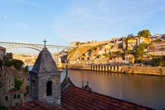Porto, Portugal, early in the morning - stock photo