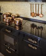 Pan on an electric stove Stock Photos