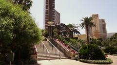 Stairs to Encore Hotel Las Vegas Stock Footage