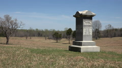 Chancellorsville Virginia Civil War battlefield Ohio monument 4K Stock Footage