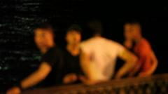 Boys on thenight coast Stock Footage