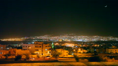 Night over the resort city of Aqaba in Jordan solar Stock Footage