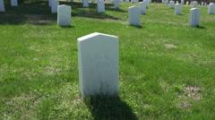 Spotsylvania Confederate Cemetery unknown soldier grave 4K 025 Stock Footage