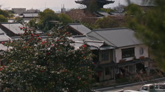 Time Lapse of Yasaka Tower -a historic 5-Story Pagoda in Kyoto Japan Long Tilt U Stock Footage