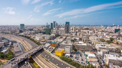 Tel Aviv Skyline At Day Stock Footage