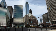 Philadelphia Pennsylvania's city center buildings Stock Footage