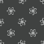 Atom pattern Stock Illustration