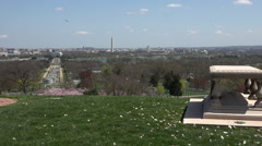 Washington DC from Arlington National Cemetery HD Stock Footage