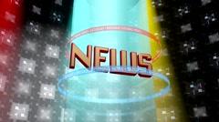 Broadcast NEWS Stock Footage