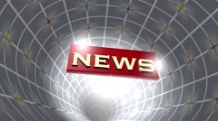 Broadcast NEWS - stock footage