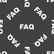 Stock Illustration of Text FAQ pattern