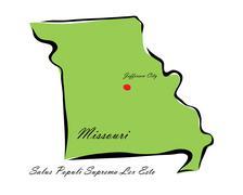 State of Missouri - stock illustration