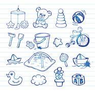 Infant Icon set Stock Illustration
