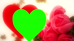 Wedding Framed Heart Stock Footage
