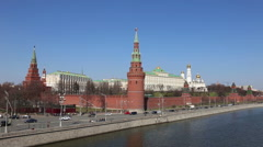 View of the Kremlin in good weather Stock Footage