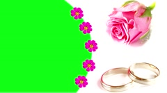 WEDDING RING Picture Frame Stock Footage