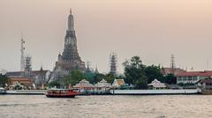 Wat arun, Thai temple Stock Photos