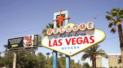 Famous sign at Las Vegas City Limit - stock footage
