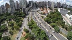 23 May (23 de Maio) Avenue in Sao Paulo, Brazil Stock Footage